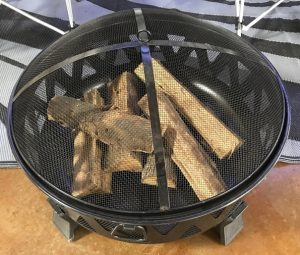 full time rv life, fire pit