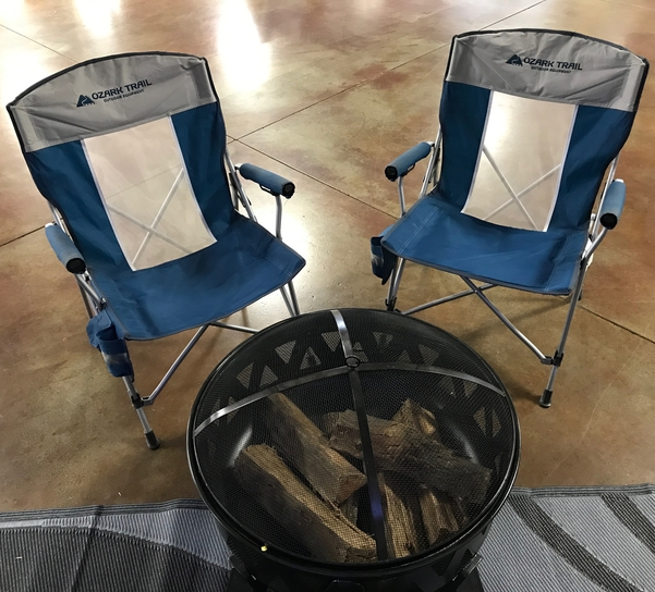 full time rv life, folding chairs
